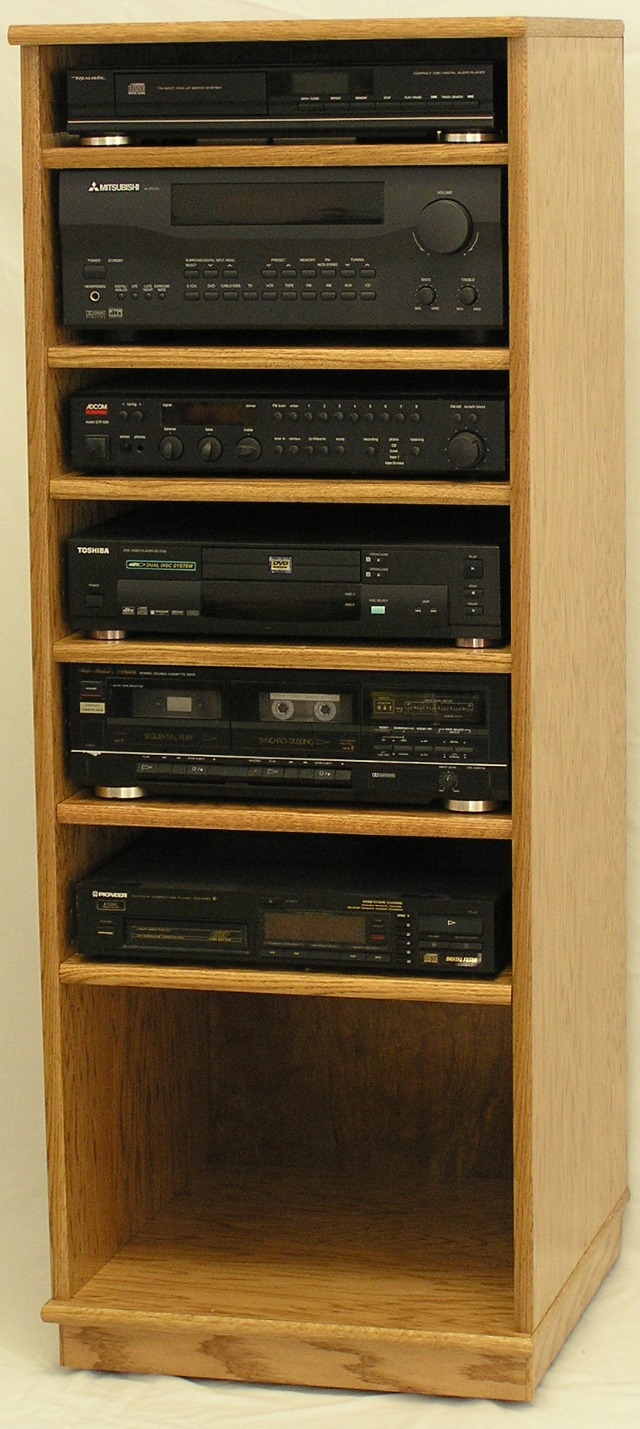 wood stereo cabinet